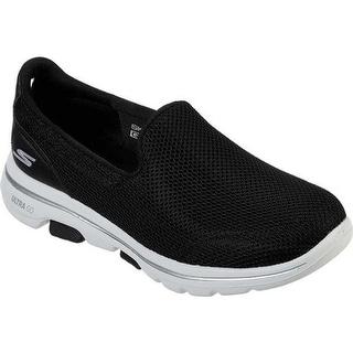 Skechers Women's GOwalk 5 Walking Shoe Black/White