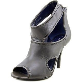 Tahari Lalla Peep-Toe Leather Heels