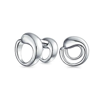 Bling Jewelry Mens Sterling Silver Eternal Circle Cuff Links