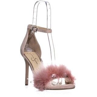 Jessica Simpson Jolinda Ankle Strap Heel Sandals, Mauve