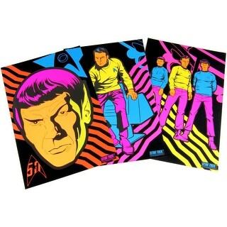 Star Trek TOS Black Light Posters, Set of 3 - Multi