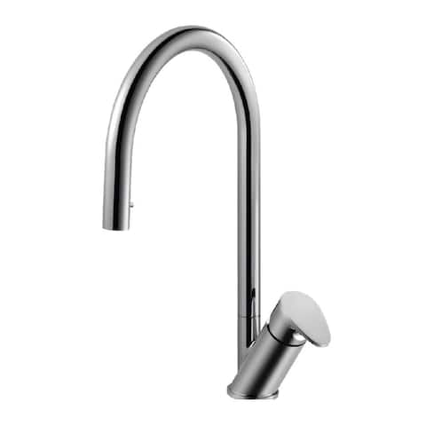 Houzer ONIPD-169 Oni Hidden Pull-Down Kitchen Faucet with CeraDox - Polished Chrome