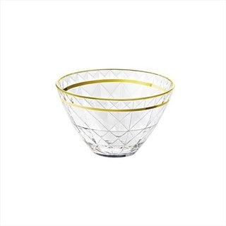 E65276-US Carre 5.5 in. High Quality Glass Individual Bowl With Gol