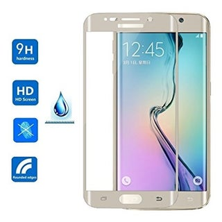 Full Curved Tempered Glass for Samsung Galaxy S6 Edge + (Option: Gold)