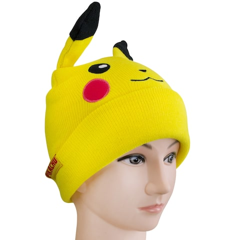 Pikachu Knit Hat And Gloves