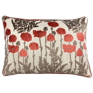 Link to Rodeo Home Camelia Floral Cut Velvet Lumbar Pillow Similar Items in Decorative Accessories