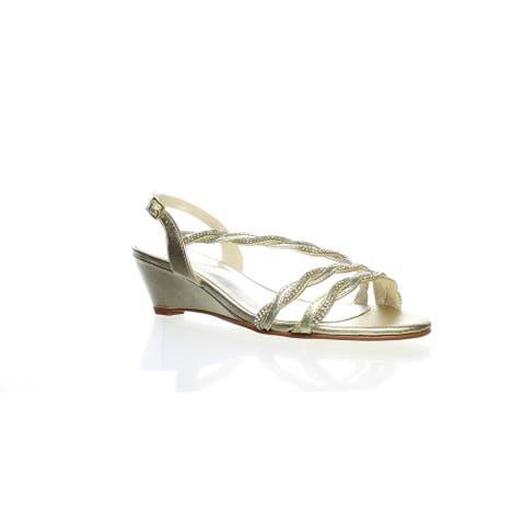 Caparros Womens Nitza Gold Slingbacks Size 6.5
