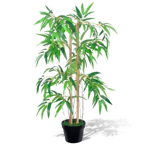 """vidaXL Artificial Bamboo Plant """"Twiggy"""" with Pot 35"""""""