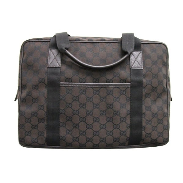 8136e50998fe Gucci Unisex GG Canvas Laptop Tote Bag Shoulder Handbag 282529 - One Size