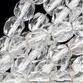 Czech Fire Polished Glass Two Toned Beads 6mm Round Crystal Silver Lined (25) - Thumbnail 0