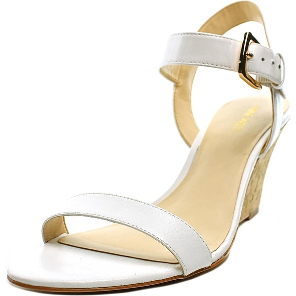 Nine West Kiani Open Toe Leather Wedge Sandal