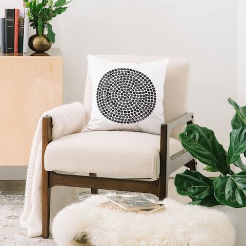 Deny Designs Mandala Dot Black Reversible Throw Pillow (4 Size Options)