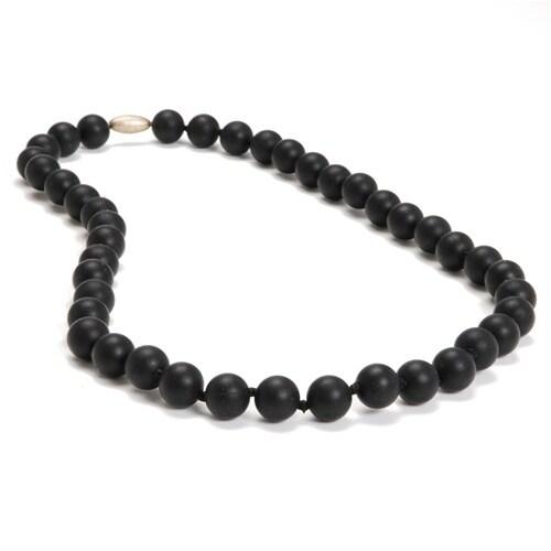 Chewbeads Jane Teething Necklace - Black Jane Teething Necklace