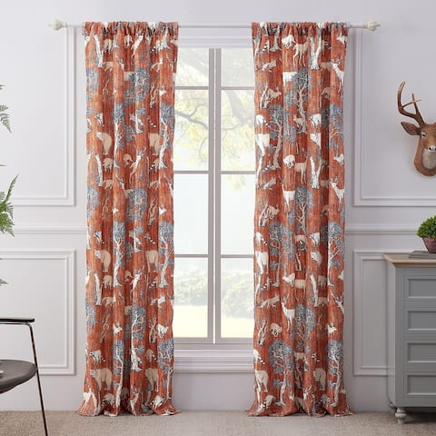 Barefoot Bungalow Menagerie Curtain Panel Pair - 84 x 84 inches