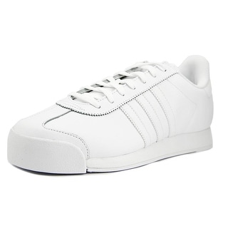Adidas Samoa Men  Round Toe Leather White Running Shoe