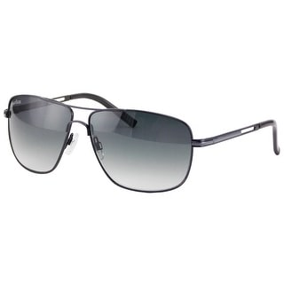 Perry Ellis Mens Metal Aviator Sunglasses Gunmetal Black-PE24-3, Includes Perry Ellis Pouch, 100% UV Protection