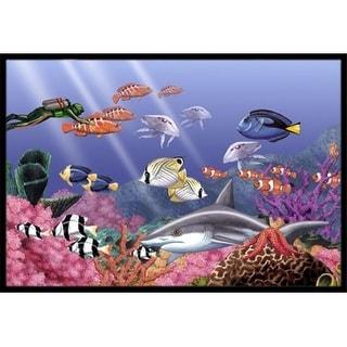 Carolines Treasures PTW2030MAT Undersea Fantasy 5 Indoor & Outdoor Mat 18 x 27 in.