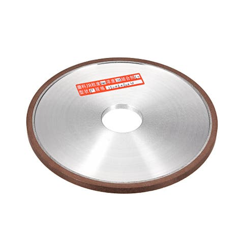 "6-Inch Diamond Grinding Wheels Resin Bonded Flat for Carbide Metal 240 Grits 75% - 240 Grits - 6"" Flat Type"
