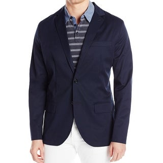 Nautica NEW Navy Blue Mens Size Large L Seamed Two Button Blazer