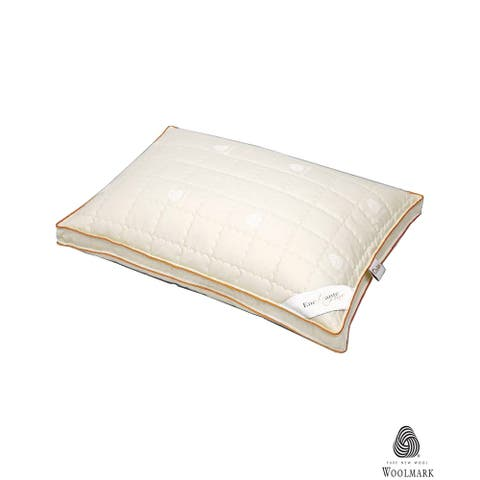 Enchante Home Luxury Wool Pillow - White