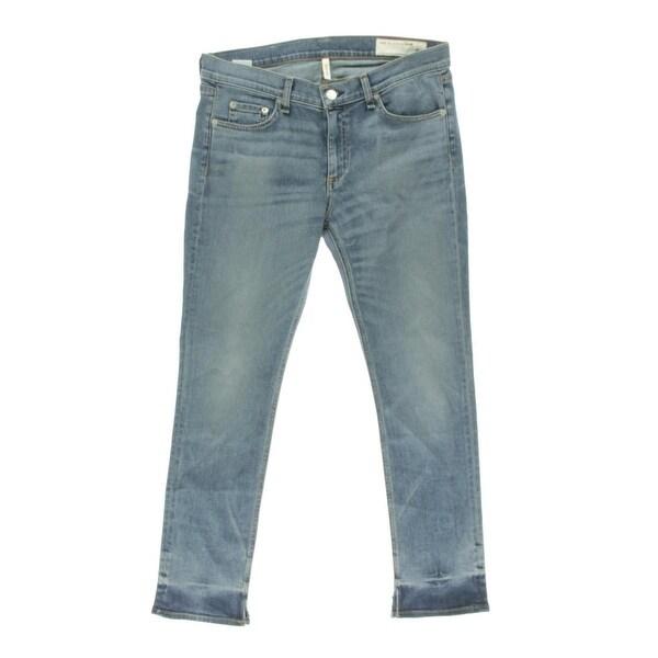 Rag & Bone Womens Cropped Jeans Low-Rise Medium Wash