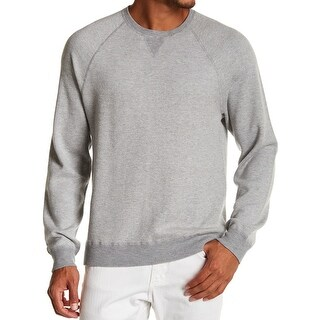 VINCE. NEW Gray Mens Large L Birdseye Texture Crewneck Wool Sweater
