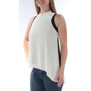 RACHEL ROY $79 Womens New 1040 Ivory Sleeveless Hi-Lo Casual Top S B+B
