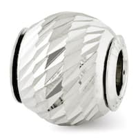 Italian Sterling Silver Reflections Diamond-cut Bead (4mm Diameter Hole)