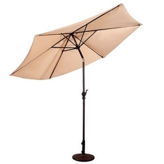 Costway 9FT Patio Umbrella Patio Market Steel Tilt W/ Crank Outdoor Yard Garden