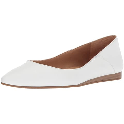 Lucky Brand Womens Bylando Leather Pointed Toe Slide Flats