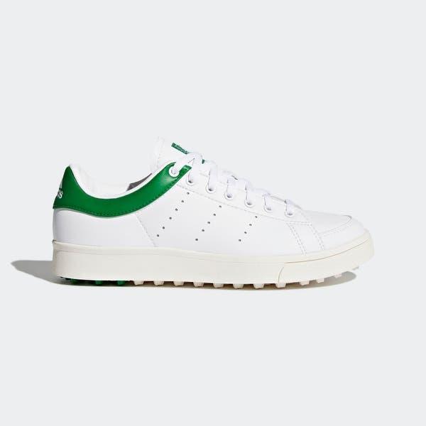 Convencional déficit carne  Adidas Junior Adicross Classic Cloud White/Cloud White/Green Golf Shoes  F33759 - Overstock - 26283911