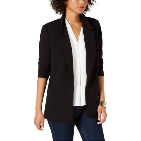 Nine West Womens Open Front Blazer Jacket, Black, X-Small