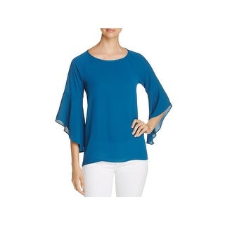 Status by Chenault Womens Tunic Top Bell Sleeve Hi-Low