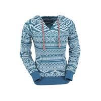Outback Trading Sweatshirt Womens Bohemian Aztec Burnout