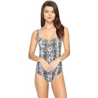 Tommy Bahama Women's Snake Charmer Over the Shoulder Shirred One-Piece SZ: 12