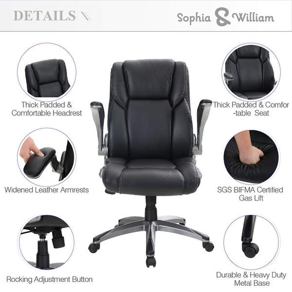 360° Swivel Recliner Rocking Chair ErgonomicLeather Office Swivel Chair Footrest