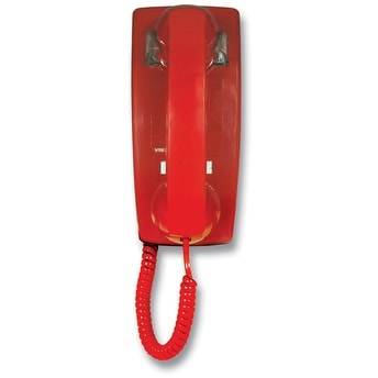 Viking Electronics VK-K-1500P-WM RED NO DIAL WALL PHONE WITH RINGER