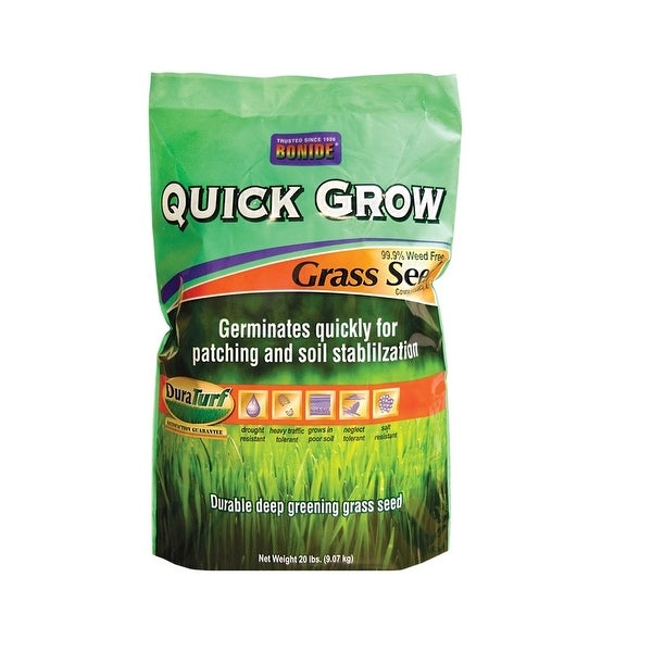 Bonide 60267 Quick Grow Grass Seed, 20 Lbs