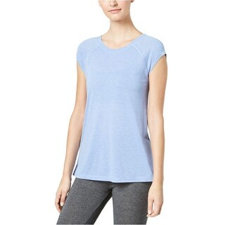 Calvin Klein Women's Performance Cap-Sleeve Strappy-Back T-Shirt Blue Size Extra Small - XS