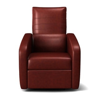 Costway Manual Recliner Chair Contemporary Foldable-Back Leather Reclining Chair Sofa