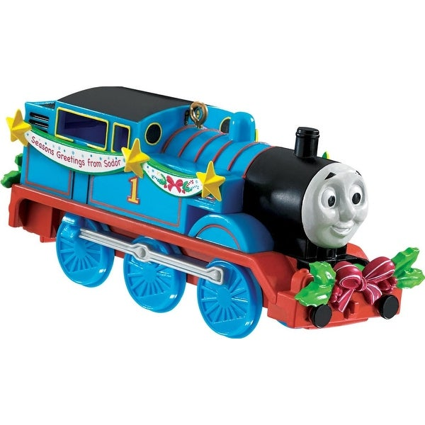 "3.75"" Carlton Cards Heirloom Thomas the Tank Engine Thomas & Friends Christmas Ornament - BLue"