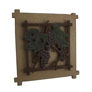 Rustic 3D Grapes Decorative Wall Plaque