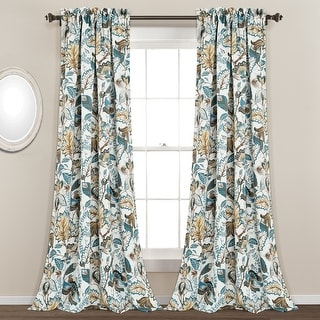 Link to Lush Decor Cynthia Jacobean Room-darkening Curtain Panel Pair Similar Items in Curtains & Drapes