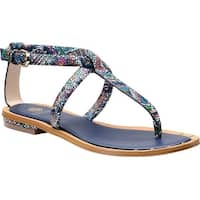 Isola Womens Mackenzie Leather Open Toe Casual T-Strap Sandals