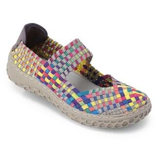 Women's Mary Jane Style Shoes - Fashion Woven Elastic Flats