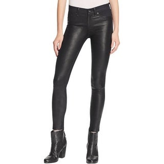 Rag & Bone Womens Skinny Jeans Skinny Lamb Leather