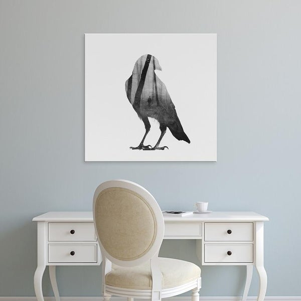 Easy Art Prints Andreas Lie's 'Crow' Premium Canvas Art