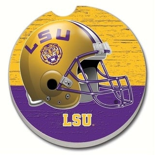 Counter Art CART09497 LSU Tigers Car Coaster Yellow Voilet