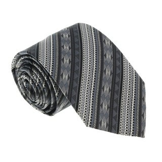 Missoni U5053 Black/Grey Graphic 100% Silk Tie - 60-3