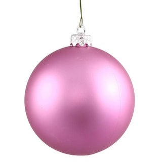 """Matte Orchid UV Resistant Commercial Drilled Shatterproof Christmas Ball Ornament 2.75"""" (70mm)"""